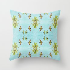 Pelicans and Palms Throw Pillow