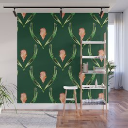 Heliconia Blossom Green  #tropical Wall Mural