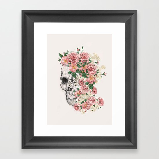 Flowers skull by draw4you