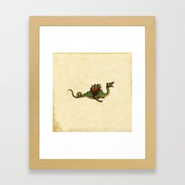 Medieval Green Dragon Framed Art Print