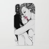 girls iPhone & iPod Cases featuring Girls by Anna Sun