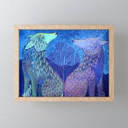 Us And The Moon Framed Mini Art Print
