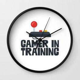 Gamer In Training Wall Clock