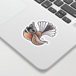Fantail - Aqua Sticker