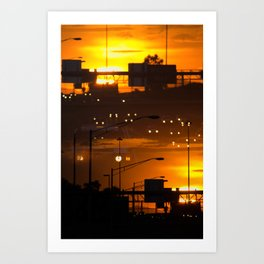 CREPUSULAR LIGHT Art Print