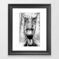 point face Framed Art Print