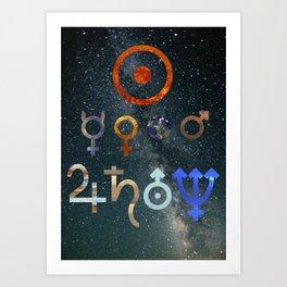 Planetary symbols III Art Print