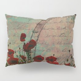 Poppies and Pink Skies Pillow Sham