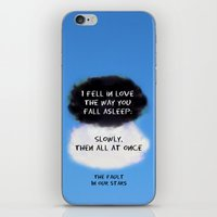 tfios iPhone & iPod Skins featuring TFIOS Quote #1 by Jerry Maestas