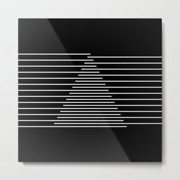 Abstraction 014 - Minimal Geometric Triangle Metal Print