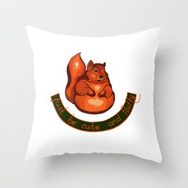 Wise squirrel Throw Pillow