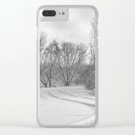 Man vs. Nature 1 Clear iPhone Case