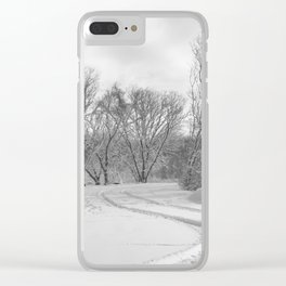 Man vs. Nature 1 Clear iPhone Case