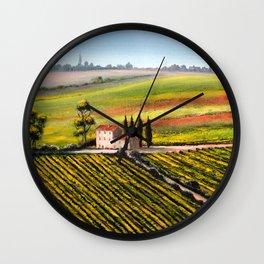Vineyards In Tuscany Italy Wall Clock