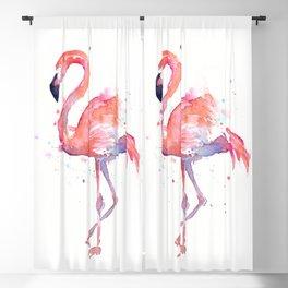 Flamingo Watercolor Blackout Curtain