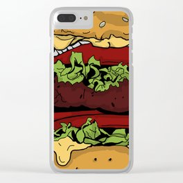 Cheeseburger Clear iPhone Case