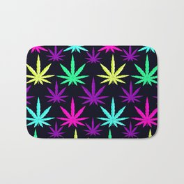 Colorful Marijuna Weed Bath Mat