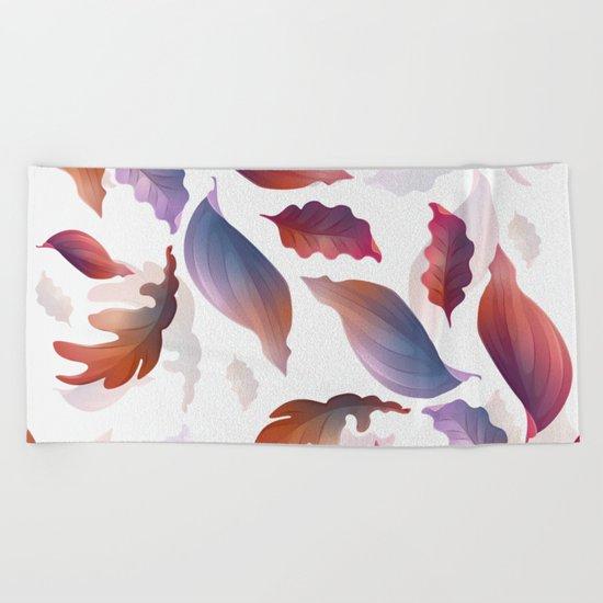 Abstract Autumn Beach Towel