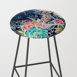 Night Bloomers Bar Stool