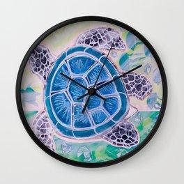 Sea Turtle Geodes Wall Clock