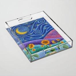 Dream Fields Acrylic Tray