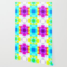 colorful geometric retro pattern Panotti Wallpaper