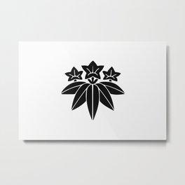 Minamoto Clan · Black Mon Metal Print