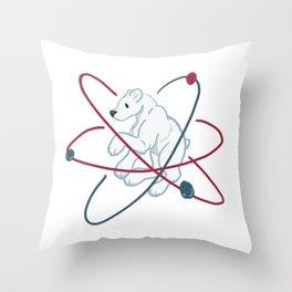 Polar (Bear) molecule Throw Pillow