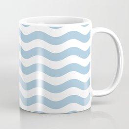 Wavy Stripes Patten Light Blue Coffee Mug