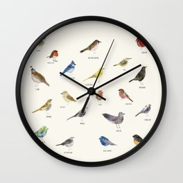 little nature birds Wall Clock
