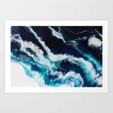 Crashing Abstract Painting Art Print