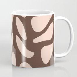 Dusty pink stones on almond brown Coffee Mug