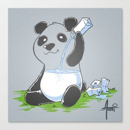 Panda in my FILLings Canvas Print