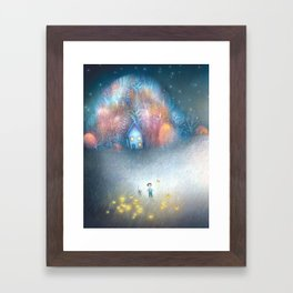 A Field of Fireflies Framed Art Print