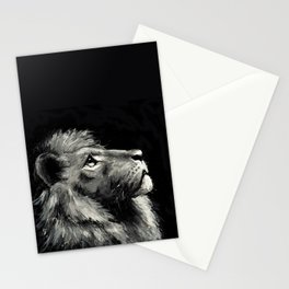 Lion – hold your head high #painting #illustration #lion Stationery Cards