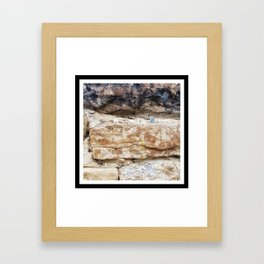 Stone Wall with Nail Framed Art Print