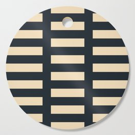Irregular Stripes blue and cream Cutting Board