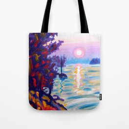 Gold Island Sunset Tote Bag