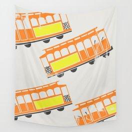 San Francisco Streetcars Wall Tapestry