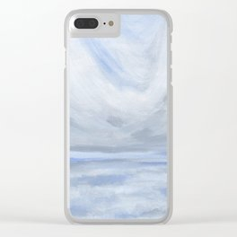 Unclear - Moody Gray Ocean Seascape Clear iPhone Case