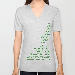 R Experiment 7 (Xmas snake tree) Unisex V-Neck