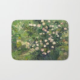 Vincent van Gogh - Roses, 1889 Bath Mat