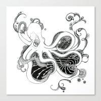 kraken Canvas Prints featuring 'Kraken' by emily