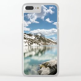 Winter's Retreat Clear iPhone Case
