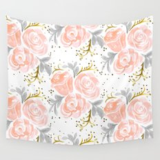 Sparkling Rosé flora Wall Tapestry