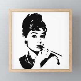 AUDREY THE 1960's FASHION ICON AND MOVIE STAR GIFT WRAPPED FOR YOU BY MONOFACES  Framed Mini Art Print