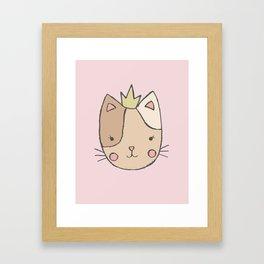 Princess Cat Framed Art Print