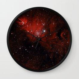 Christmas tree Nebula 1 Wall Clock