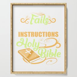 Follow Instructions Holy Bible Serving Tray