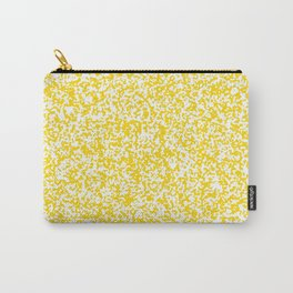 Tiny Spots - White and Gold Yellow Carry-All Pouch